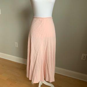 RL pale pink silk blend mid calf skirt, NWT, 16W